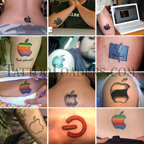 There are fans of Mac so much that they sport Apple computer logo tattoos?