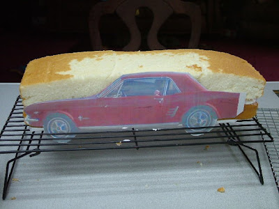 How to make a 3d car cake sugared productions blog place the cakes on the board align the car template up against the cake pronofoot35fo Choice Image
