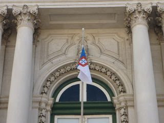 Portuguese Blue and White flown from Lisbon Town Hall