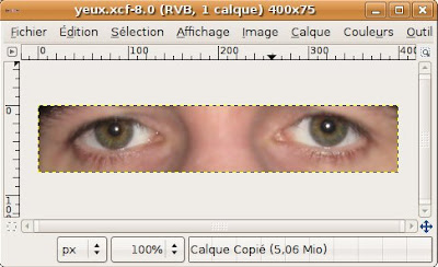 tutoriel gimp trucage changer couleurs yeux