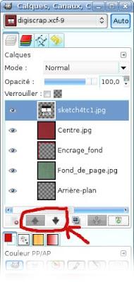 ouverture et utilisation sketch scrapbooking digiscrap