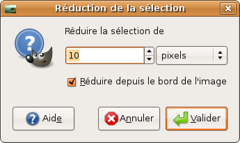 réduction sélection tuto gimp scrapbooking