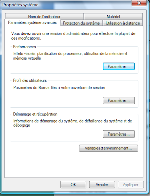 fenêtre des propriétés système windows pour avoir Gimp en Français