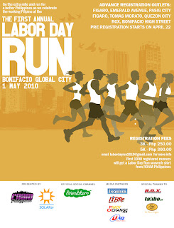 First Labor Day Run Poster