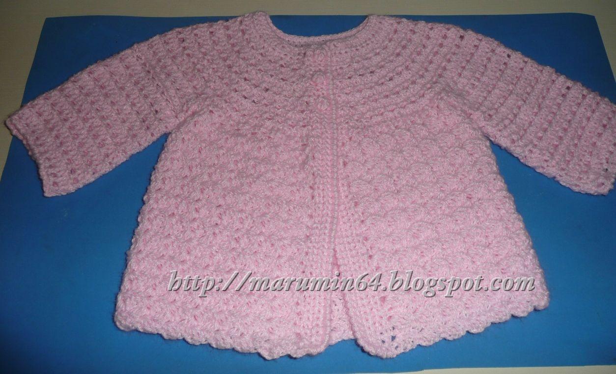 Marumin Crochet: Dos chaquetitas con un mismo patrón / Two jackets ...