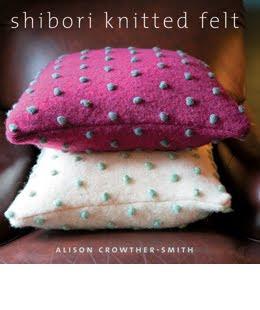 shibori knitted felt