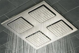 vanity rain shower bathroom design idea
