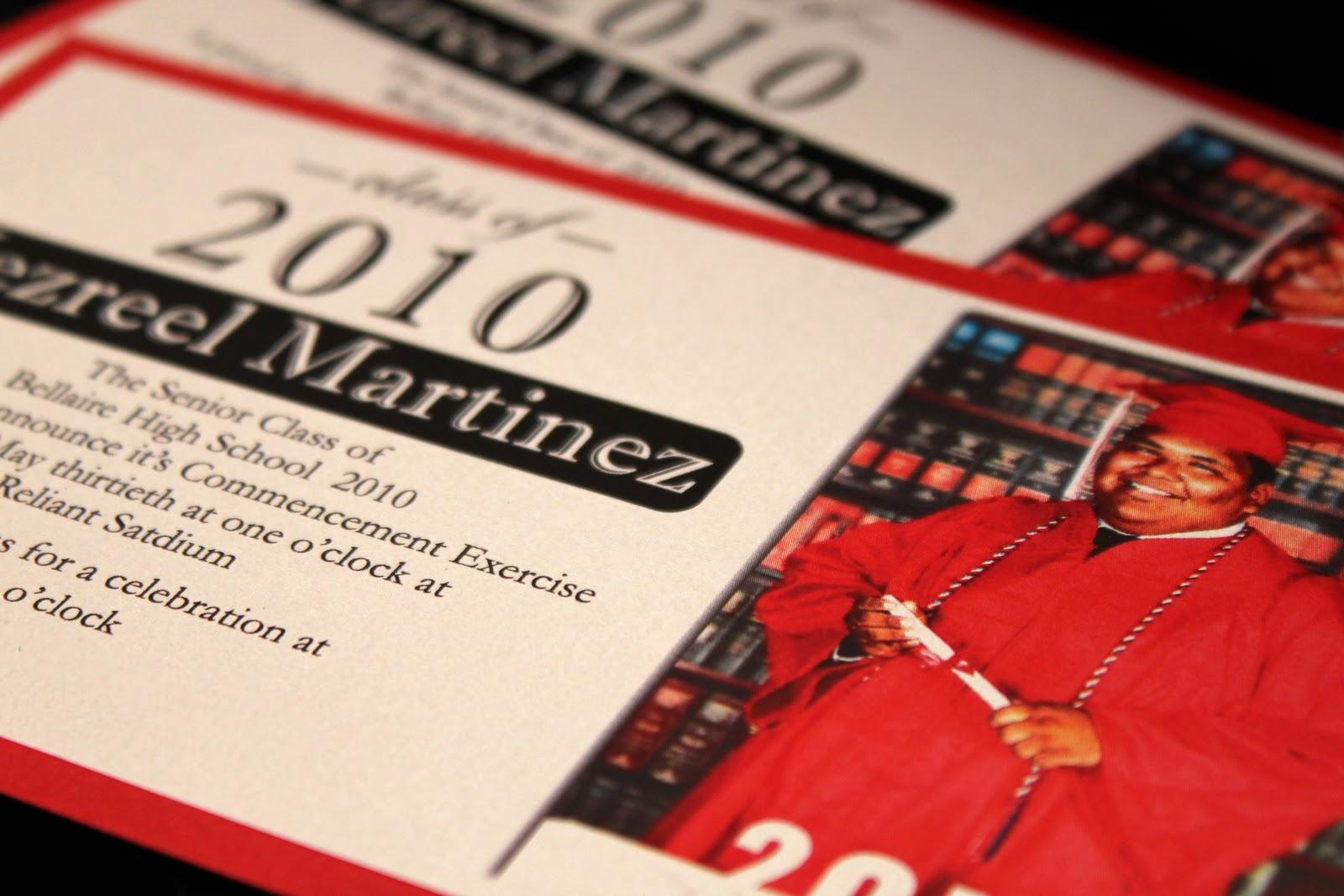 Black Ink Design: Graduation Announcements