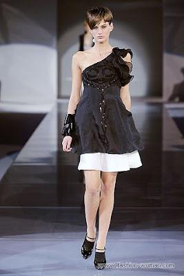 emporio armani osen zima 2010 2011 1 Вечірні сукні (фото). Вечірні плаття від знаменитих Будинків Мод