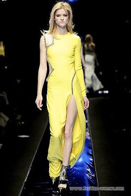 versace osen zima 2010 2011 1 Вечірні сукні (фото). Вечірні плаття від знаменитих Будинків Мод