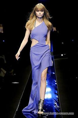 versace osen zima 2010 2011 2 Вечірні сукні (фото). Вечірні плаття від знаменитих Будинків Мод