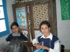 Chadha et Ines de la 6ème A