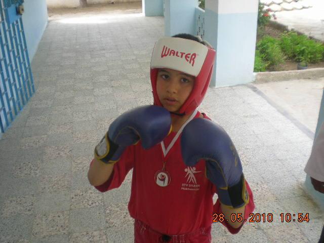 Le champion de boxe