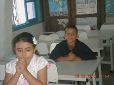 Rayan et Fatima en classe de 3ème A