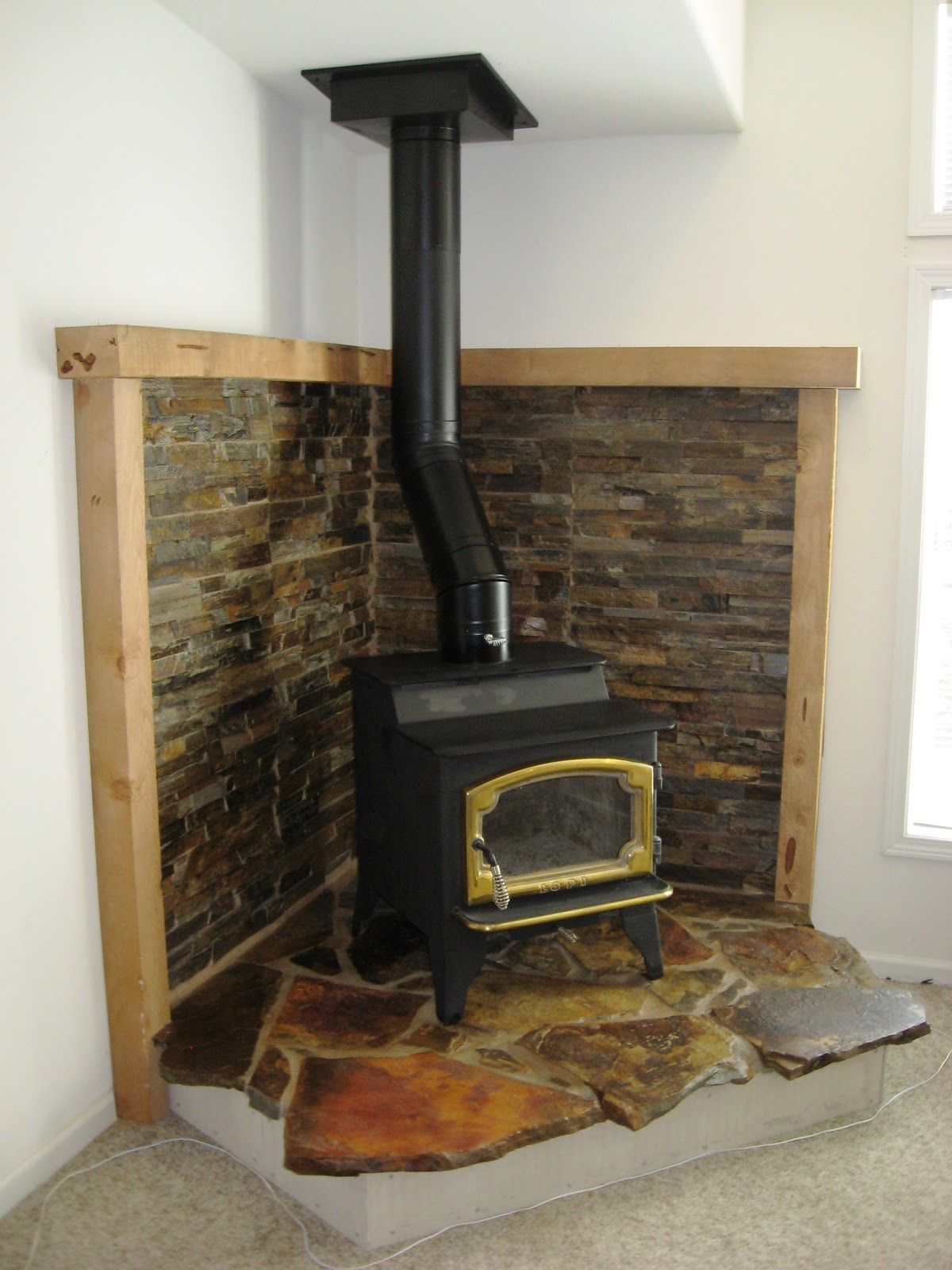 Wood stove surround ideas - Go Back Gallery For Corner Wood Stove Hearth Designs Go Back Gallery For Corner Wood Stove Hearth