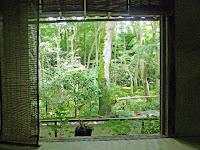 本堂の正面から庭を眺める