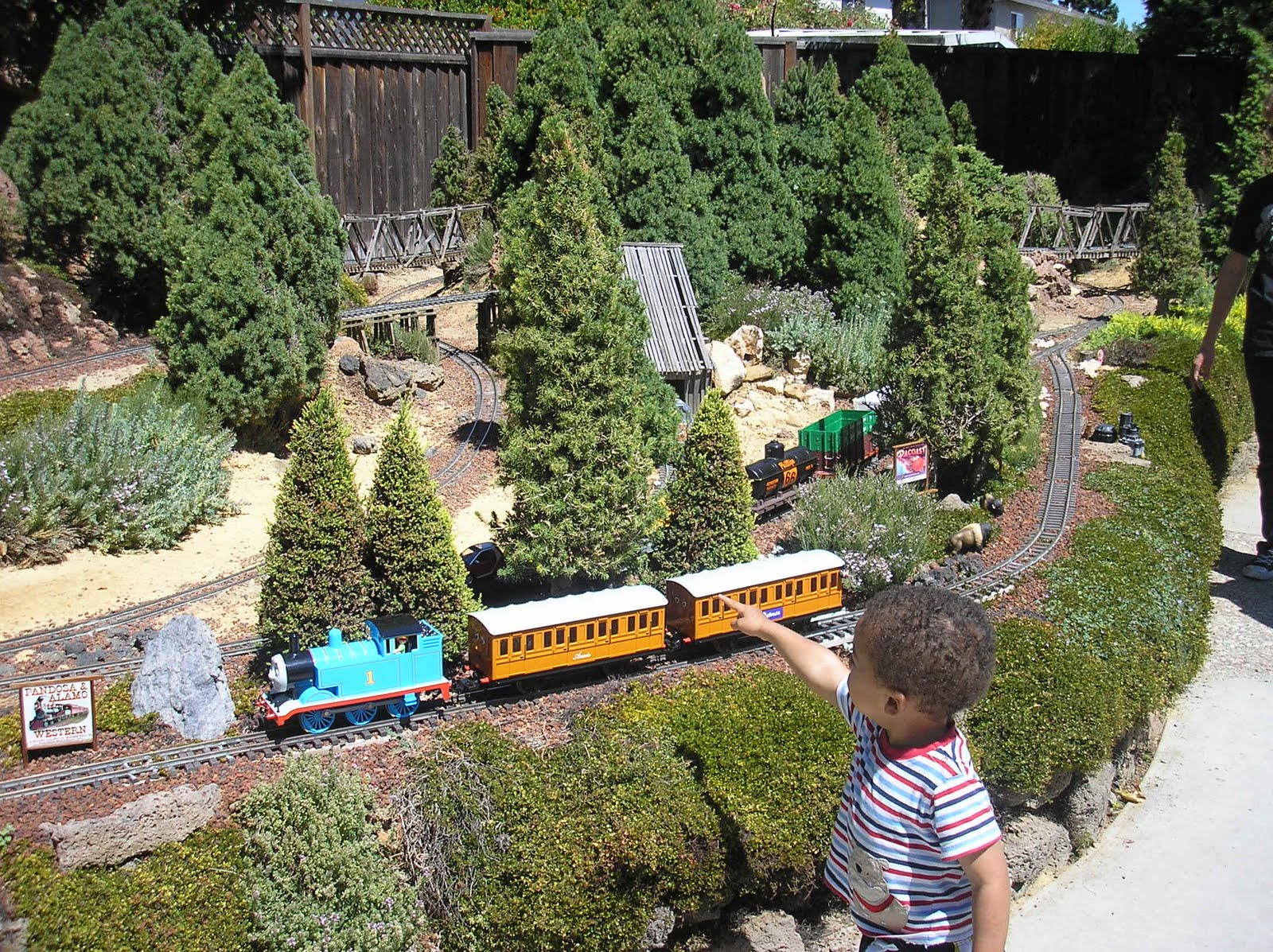 Garden railway tour garden dezine for Garden railway designs