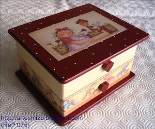 Caixa de Jóias bordeux