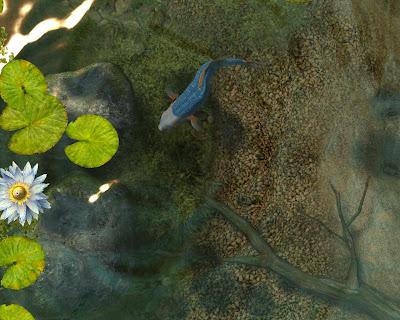 koi fish wallpaper. Koi Fish 3D Screensaver With