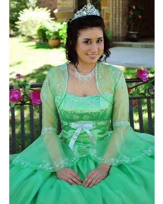 Vestidos de graduacion color verde limon