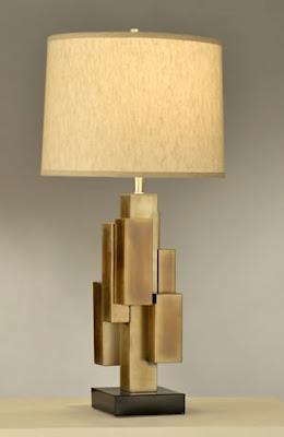 Nova 10580 1 Light Crescendo Table Lamp Flamed Bronze