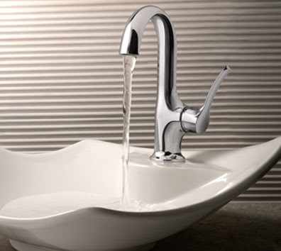 Moen S41707 ShowHouse Fina Single Handle High Arc Bathroom Faucet