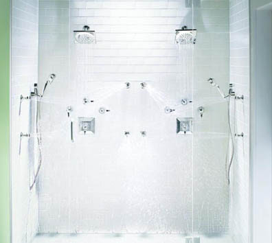 Moen TS556 ShowHouse Divine ExactTemp Vertical Spa Shower System