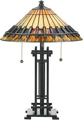 Quoizel TF489T Chastain Tiffany 2 Light Table Lamp