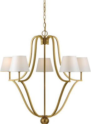 Quoizel LSE5005GY 5 Light Laurie Smith Era Chandelier Gallery Gold