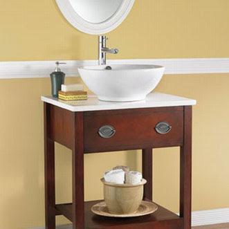 American Standard 0960.000.020 Round White China Vessel Bathroom Sink 16-7/8
