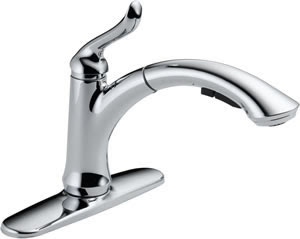 Delta 4353-DST Linden Single Handle Pull-Out Kitchen Faucet