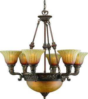 Crystorama 9306-ES Madison 6 + 3 Light Chandelier Espresso