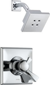 Delta T17251-H2O Dryden Monitor 17 Series Shower Faucet Trim With H2O Shower Head (Requires Valve)