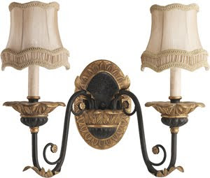 Kichler 6015ACK 2 Light Wall Sconce Antique Crackle