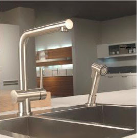 Franke FF-5000 Series Single Handle Kitchen Faucet With Side Spray