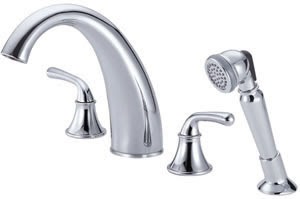 Danze D307756 Bannockburn Roman Tub Faucet With Soft Touch Personal Shower