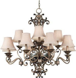 Kenroy 91468DS Lattice 12 Light Chandelier