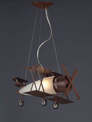 ELK 5084/1 Biplane Novelty Pendant Light