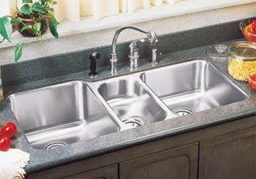 Elkay ELUH4020 Lustertone Triple Bowl Undermount Stainless Steel Kitchen Sink
