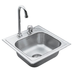 Moen 22240 Camelot Self-Rimming Bar Sink With Faucet & Strainer