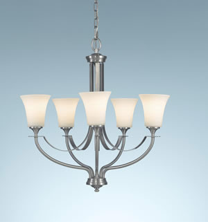 Murray Feiss F2252/5BS Barrington 5-Light Chandelier Brushed Steel