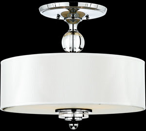 Quoizel DW1717C 3 Light Downtown Semi-Flush Mount Polished Chrome