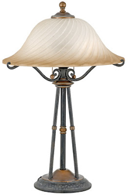 Quoizel GE6226SE Genova 2 Light Table Lamp Stonehedge