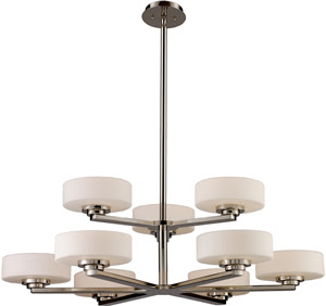 Elk 10138/6+3 9 Light Sousa 6 + 3 Chandelier In Polished Nickel