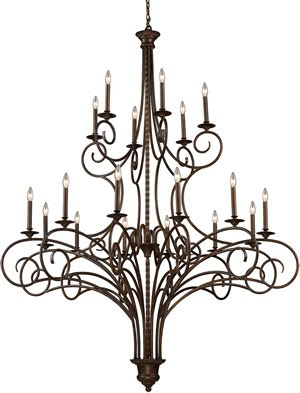 Elk 15044/12+6 18 Light Gloucester 12 + 6 Fixture Chandelier In Antique Bronze