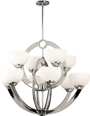 Kenroy Home 91555CH Nova 10 Light Chandelier