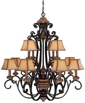Capital 3962IU-466 Foxborough 12 Light Chandelier Iron & Umber