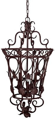 Capital 9336MBZ Garden Gate 6 Light Foyer Pendant Mediterranean Bronze