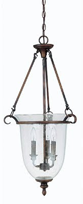 Capital 9310BB 3 Light Foyer Pendant Burnished Bronze