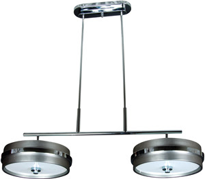 Craftmade 9540BNCH6 5th Avenue 6 Light Island Fixture Two Drums Brushed Nickel/Chrome
